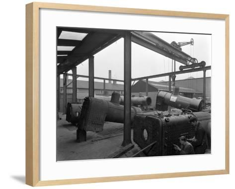 Locomotive Repairs, Doncaster, South Yorkshire, 1959-Michael Walters-Framed Art Print