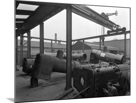 Locomotive Repairs, Doncaster, South Yorkshire, 1959-Michael Walters-Mounted Photographic Print
