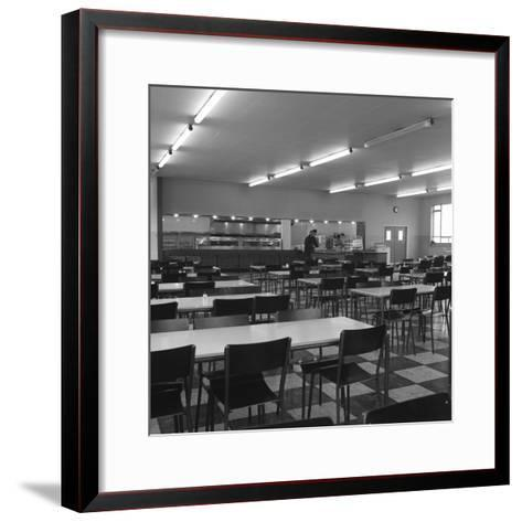 View of the Canteen at the Park Gate Iron and Steel Co, Rotherham, 1964-Michael Walters-Framed Art Print