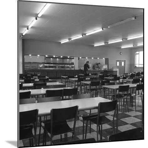 View of the Canteen at the Park Gate Iron and Steel Co, Rotherham, 1964-Michael Walters-Mounted Photographic Print