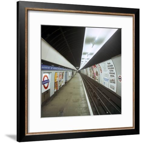 Empty Tube Station, Blackhorse Road on the Victoria Line, London, 1974-Michael Walters-Framed Art Print