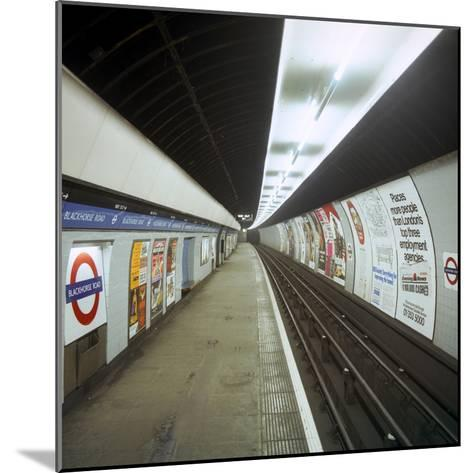 Empty Tube Station, Blackhorse Road on the Victoria Line, London, 1974-Michael Walters-Mounted Photographic Print