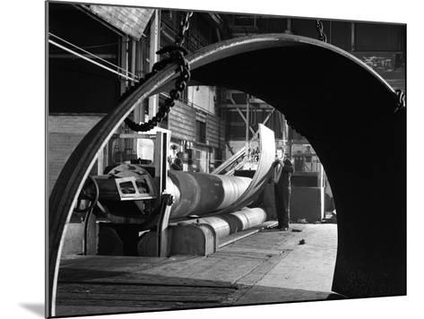 Rolling Plate at Edgar Allens Steel Foundry, Sheffield, South Yorkshire, 1964-Michael Walters-Mounted Photographic Print