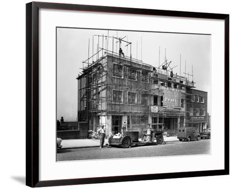 Commercial Shop Unit Construction in Rotherham, South Yorkshire, 1962-Michael Walters-Framed Art Print