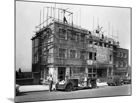 Commercial Shop Unit Construction in Rotherham, South Yorkshire, 1962-Michael Walters-Mounted Photographic Print