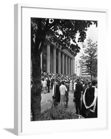 University Graduates Outside Sheffield City Hall, South Yorkshire, 1967-Michael Walters-Framed Art Print