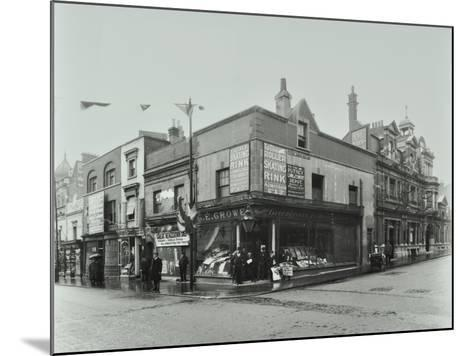Shops and Sign to Putney Roller Skating Rink, Putney Bridge Road, London, 1911--Mounted Photographic Print