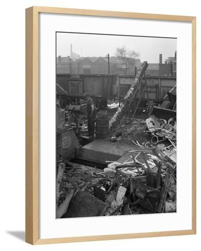 Recycling Scrap, Rotherham, South Yorkshire, 1965-Michael Walters-Framed Art Print
