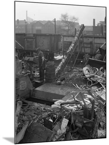 Recycling Scrap, Rotherham, South Yorkshire, 1965-Michael Walters-Mounted Photographic Print