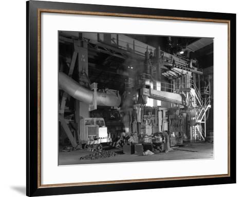 Charging an Electric Arc Furnace, Park Gate Iron and Steel Co, Rotherham, South Yorkshire, 1964-Michael Walters-Framed Art Print
