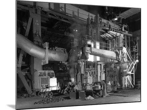 Charging an Electric Arc Furnace, Park Gate Iron and Steel Co, Rotherham, South Yorkshire, 1964-Michael Walters-Mounted Photographic Print