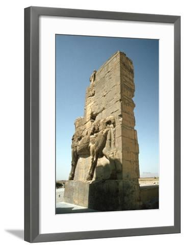 Back View of the Gate of All Nations, Persepolis, Iran-Vivienne Sharp-Framed Art Print