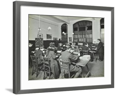 Typewriting Class, Hammersmith Commercial Institute, London, 1913--Framed Art Print