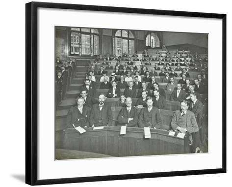 A Class Listening to a Lecture, London Day Training College, 1914--Framed Art Print
