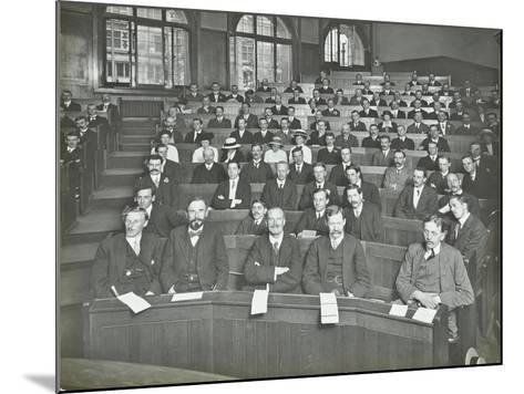 A Class Listening to a Lecture, London Day Training College, 1914--Mounted Photographic Print