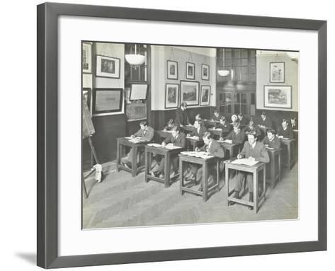 Bookkeeping Class for Men, Blackheath Road Evening Institute, London, 1914--Framed Art Print