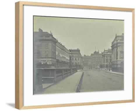 Empty Streets at Lancaster Place, Seen from Waterloo Bridge, London, 1896--Framed Art Print