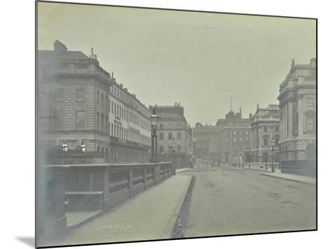 Empty Streets at Lancaster Place, Seen from Waterloo Bridge, London, 1896--Mounted Photographic Print