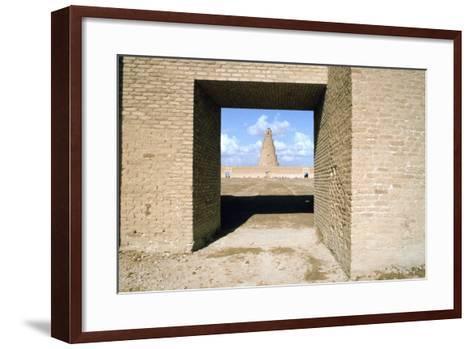 Minaret from Within the Friday Mosque, Samarra, Iraq, 1977-Vivienne Sharp-Framed Art Print