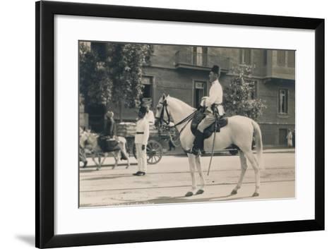 Egyptian Police, Cairo, Egypt, 1936--Framed Art Print