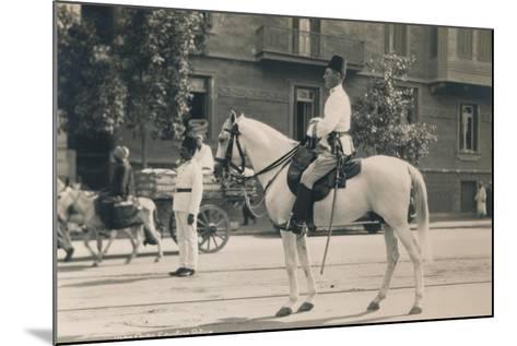 Egyptian Police, Cairo, Egypt, 1936--Mounted Photographic Print