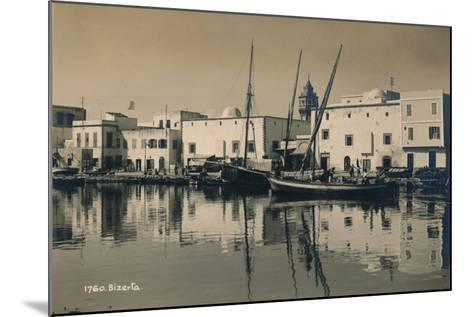 The Old Port of Bizerta, Tunisia, 1936--Mounted Photographic Print