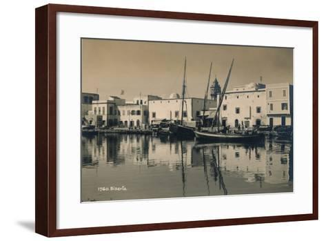 The Old Port of Bizerta, Tunisia, 1936--Framed Art Print