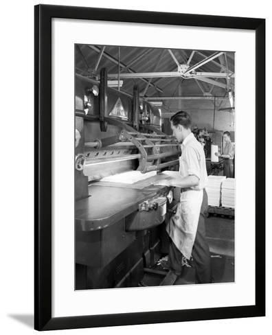 Page Cutting Guillotine in Use at a South Yorkshire Printing Company, 1959-Michael Walters-Framed Art Print
