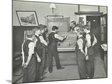 Constructing a Piano, Benthal Road Evening Institute, London, 1914--Mounted Photographic Print