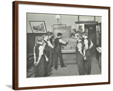Constructing a Piano, Benthal Road Evening Institute, London, 1914--Framed Art Print