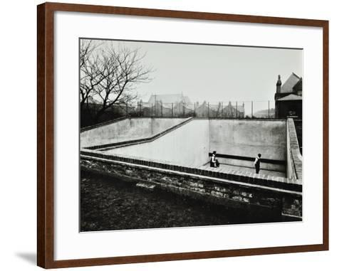 Boys Playing in a Fives Court, Strand School, London, 1914--Framed Art Print
