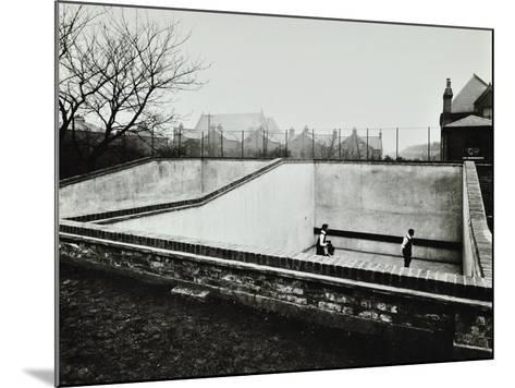 Boys Playing in a Fives Court, Strand School, London, 1914--Mounted Photographic Print