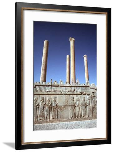 Relief of Medes and Persians, the Apadana, Persepolis, Iran-Vivienne Sharp-Framed Art Print