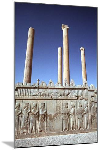 Relief of Medes and Persians, the Apadana, Persepolis, Iran-Vivienne Sharp-Mounted Photographic Print