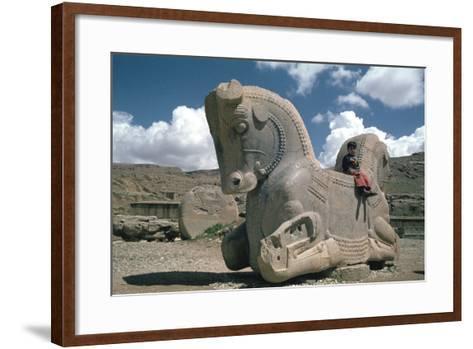 Protome of a Double Horse, the Apadana, Persepolis, Iran-Vivienne Sharp-Framed Art Print