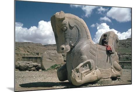 Protome of a Double Horse, the Apadana, Persepolis, Iran-Vivienne Sharp-Mounted Photographic Print