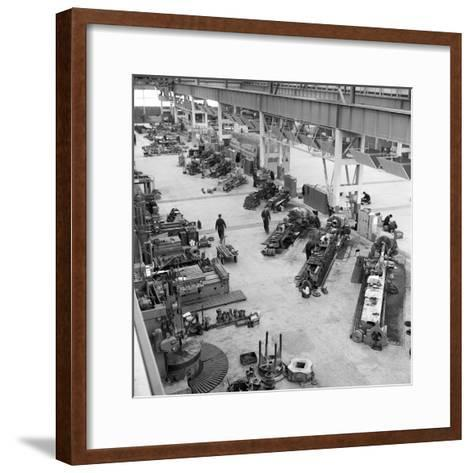 Lathe Workshop Area, Park Gate Iron and Steel Co, Rotherham, South Yorkshire, 1964-Michael Walters-Framed Art Print
