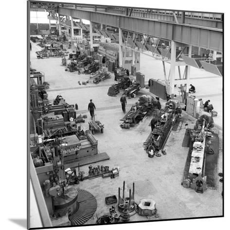 Lathe Workshop Area, Park Gate Iron and Steel Co, Rotherham, South Yorkshire, 1964-Michael Walters-Mounted Photographic Print