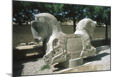 Protome of a Double Horse, the Apadana, Persepolis, Iran-Vivienne Sharp-Mounted Photographic Print