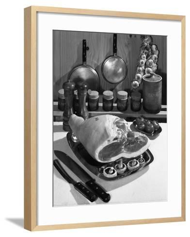 Danish Bacon Gammon Joint with Spice Jars, 1963-Michael Walters-Framed Art Print