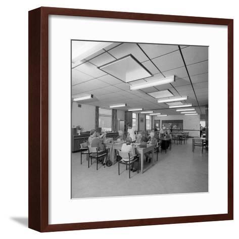 Tea Room, Montague Hospital, Mexborough, South Yorkshire, 1977-Michael Walters-Framed Art Print