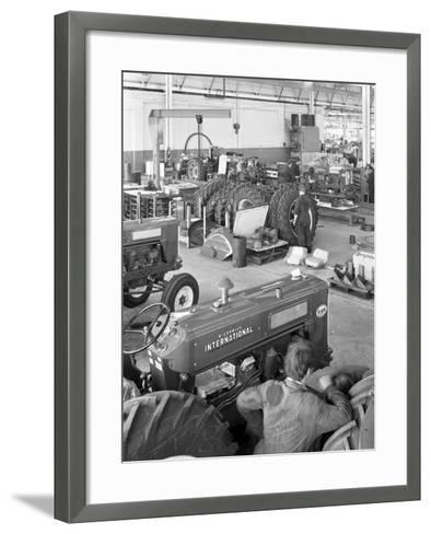 International Harvester Tractor Factory, Doncaster, South Yorkshire, 1966-Michael Walters-Framed Art Print
