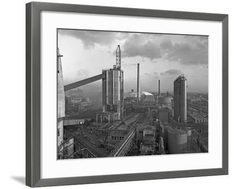 Manvers Coal Processing Plant, Wath Upon Dearne, Near Rotherham, South Yorkshire, February 1957-Michael Walters-Framed Art Print
