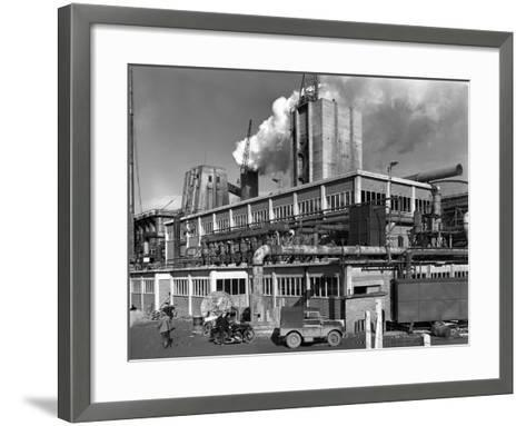 Manvers Coal Processing Plant, Wath Upon Dearne, Near Rotherham, South Yorkshire, January 1957-Michael Walters-Framed Art Print