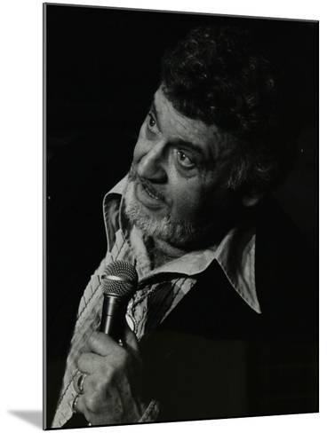 Frankie Laine on Stage at the Forum Theatre, Hatfield, Hertfordshire, 10 May 1982-Denis Williams-Mounted Photographic Print