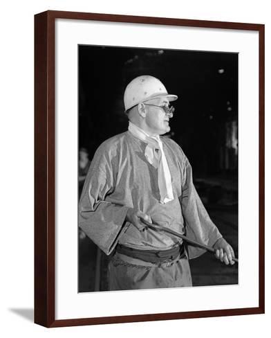 Steel Worker, Park Gate Steelworks, Rotherham, South Yorkshire, 1964-Michael Walters-Framed Art Print
