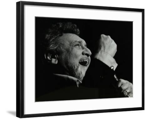 Frankie Laine on Stage at the Forum Theatre, Hatfield, Hertfordshire, 10 May 1982-Denis Williams-Framed Art Print