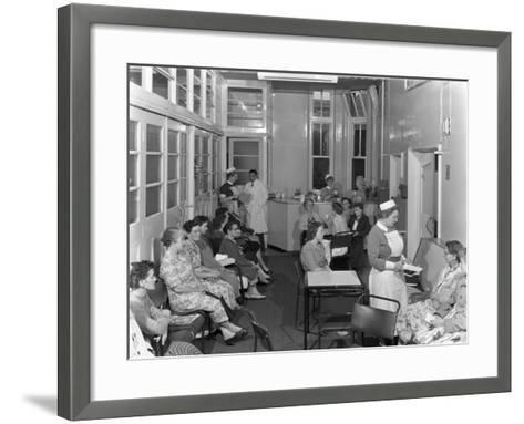 Outpatients Awaiting Treatement at the Montague Hospital, Mexborough, South Yorkshire, 1959-Michael Walters-Framed Art Print