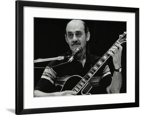 American Guitarist Joe Pass Playing at the Shaw Theatre, London, 31 July 1982-Denis Williams-Framed Art Print