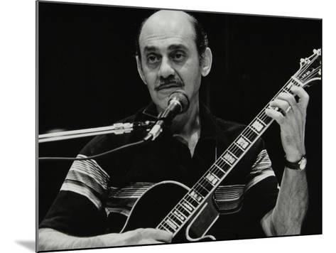 American Guitarist Joe Pass Playing at the Shaw Theatre, London, 31 July 1982-Denis Williams-Mounted Photographic Print